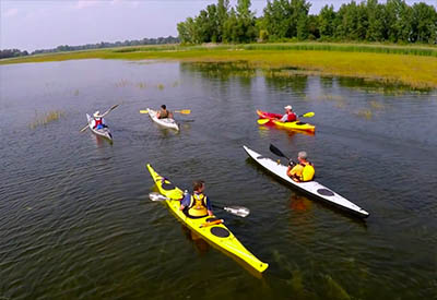 Saginaw Bay Water Trail Kayaking in Michigan